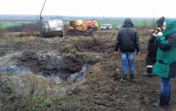Отбор проб сотрудниками Славянского отдела на производственном объекте в связи с ЧС