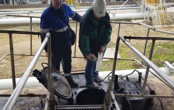 Участие сотрудников филиала ЦЛАТИ по Краснодарскому краю в выездной проверке в Темрюкском районе, порт Тамань.