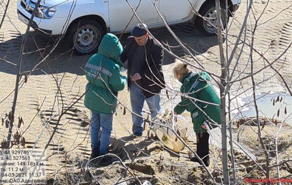 Участие сотрудников филиала ЦЛАТИ по Краснодарскому краю  в проверке АО «Адыгеянеруд» в ауле Кошехабль Республики Адыгея.